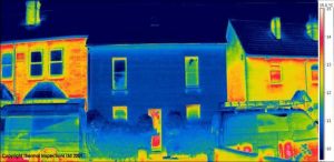 Thermograph of passive house